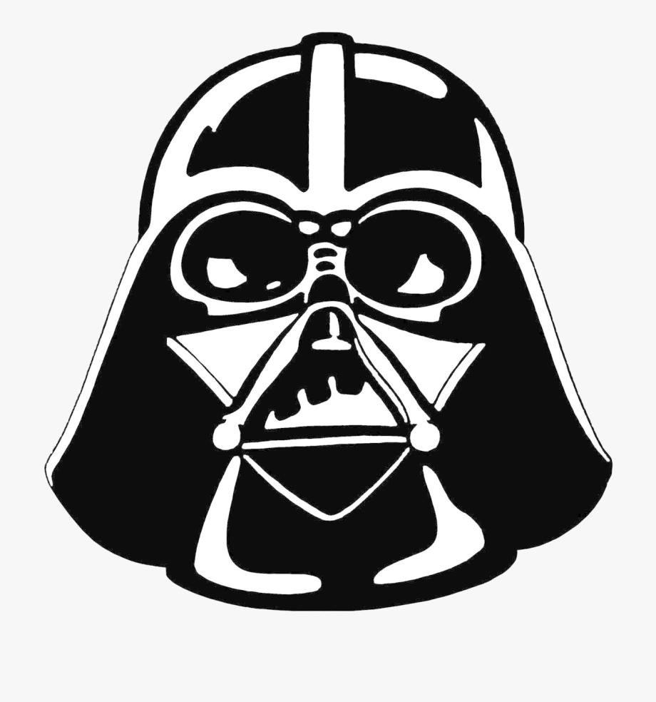 Darth Vader Stencil Star Wars Clipart.