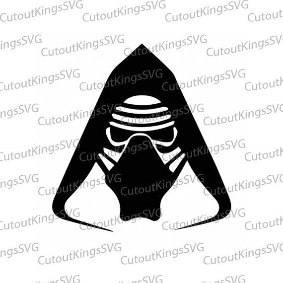 Image result for kylo ren silhouette stencil.