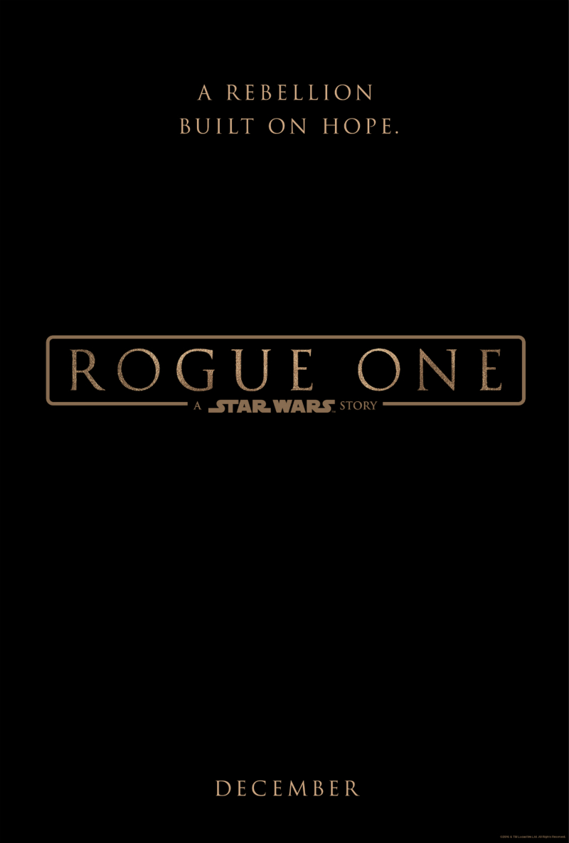 Rogue One (film) Font.