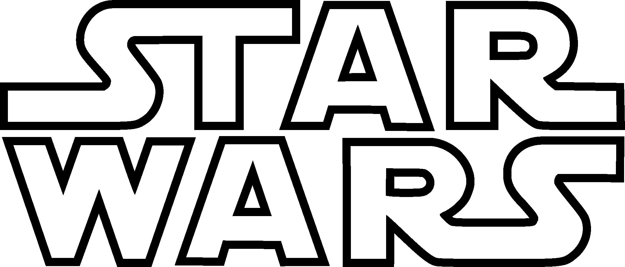 Star Wars Logo Background PNG Image.