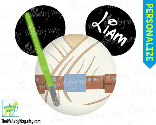 Luke Skywalker Mickey Head Jedi Star Wars Printable Disney.
