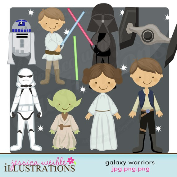 STAR WARS Clipart, Printable, Instant download, PNG files.