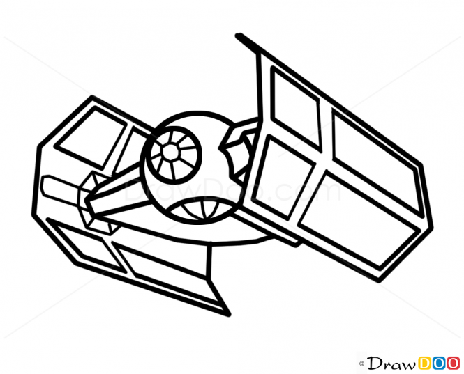 millennium falcon drawing.