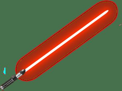Red Lightsaber transparent PNG.