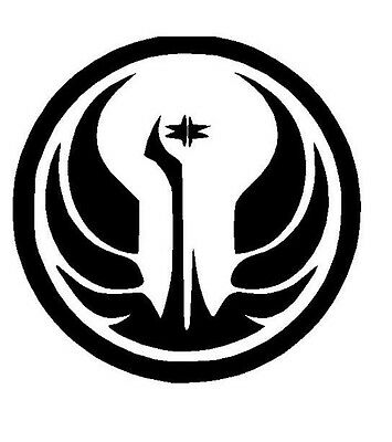 Star Wars Jedi Order Old Republic Symbol Vinyl Decal Cosplay window laptop  cell.