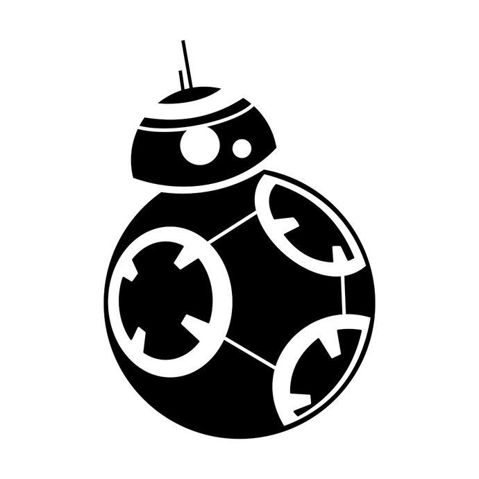 BB8 Star Wars graphics design SVG DXF EPS Png Cdr Ai Pdf Vector Art Clipart  instant download Digital Cut Print Files Decal Cricut Vinyl.