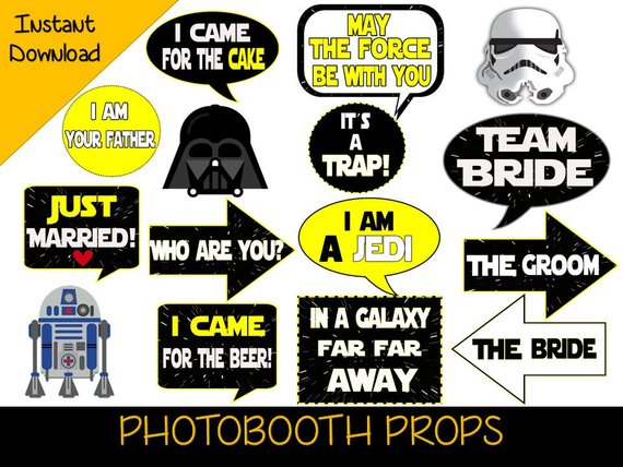 Star Wars PhotoBooth Props.