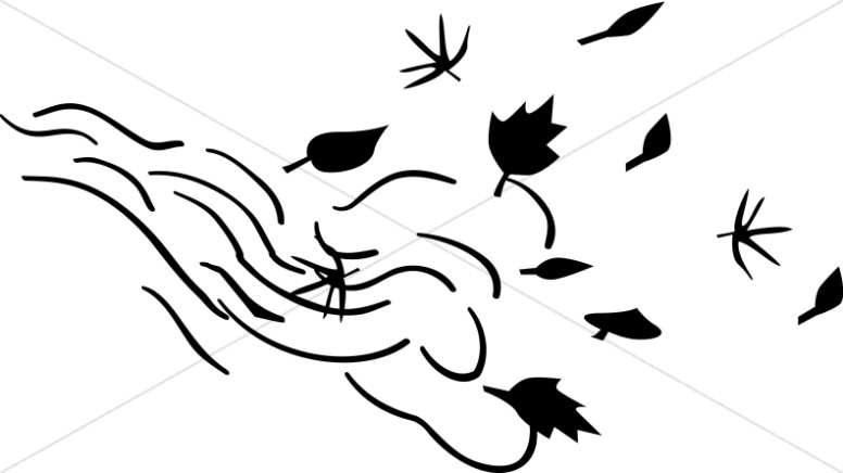 Wind Black And White Clipart.
