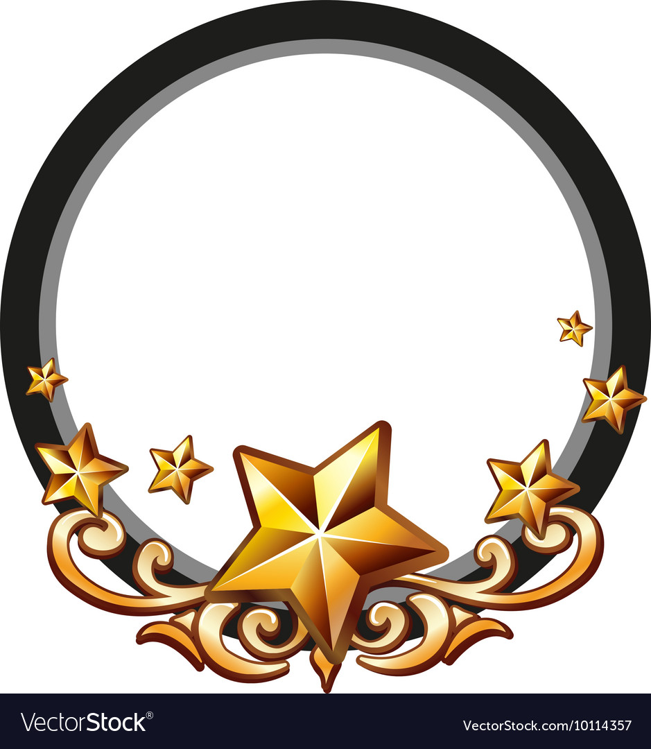 Logo design with golden stars.