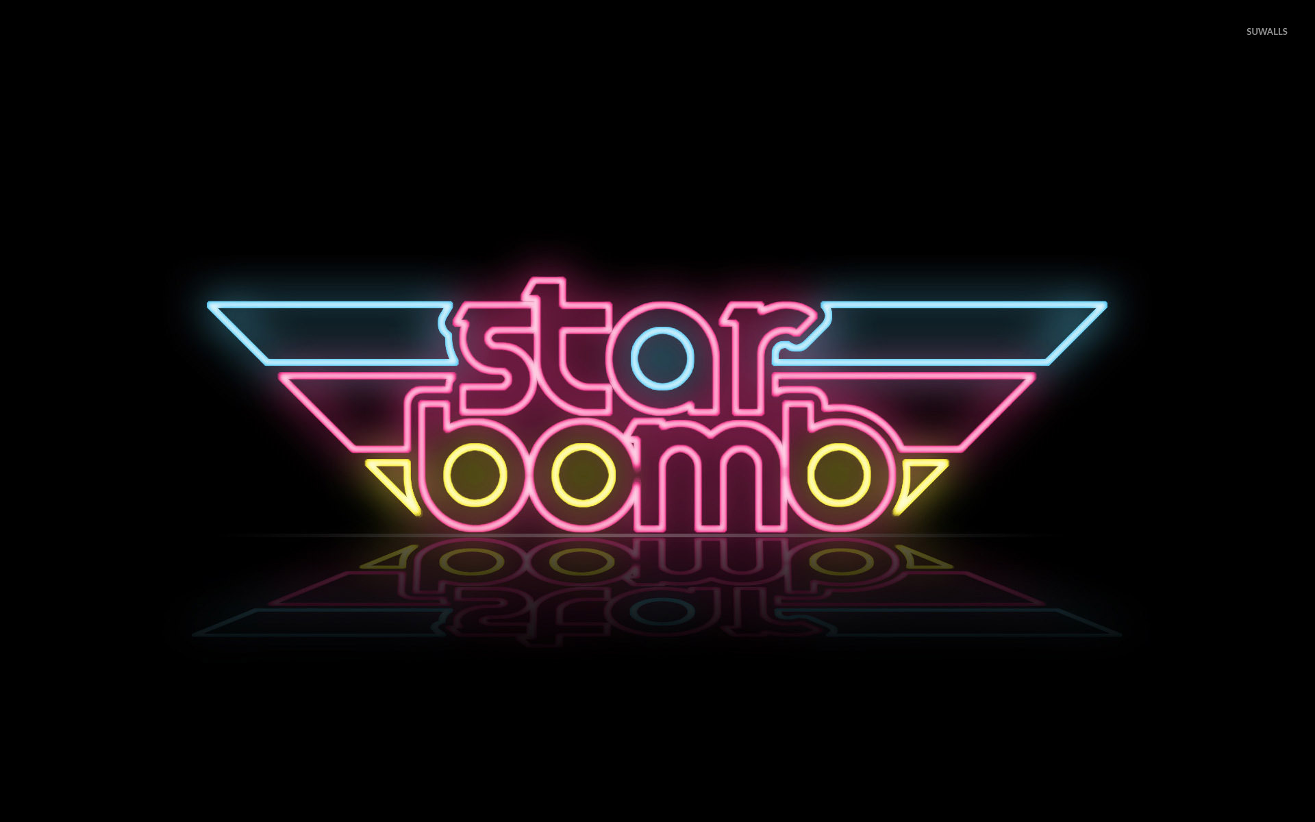 Star Bomb logo wallpaper.