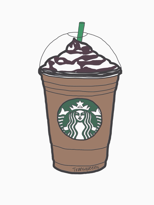 Starbucks Black And White Clipart.