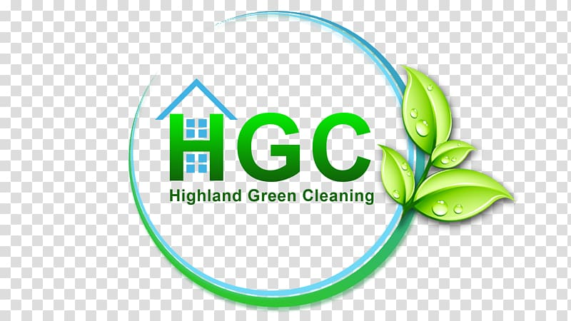Highland Green Cleaning Logo Brand, keep clean transparent.