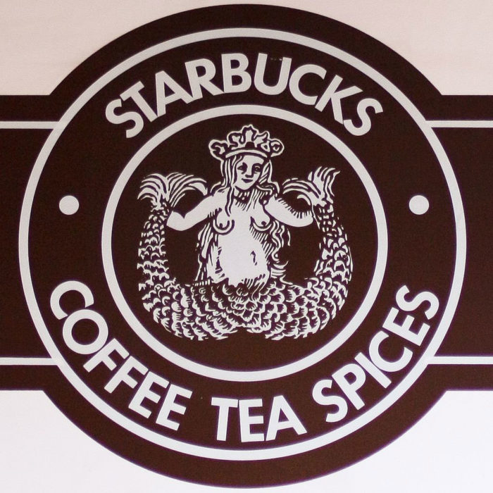 The Starbucks logo and its evolution since it was first created.