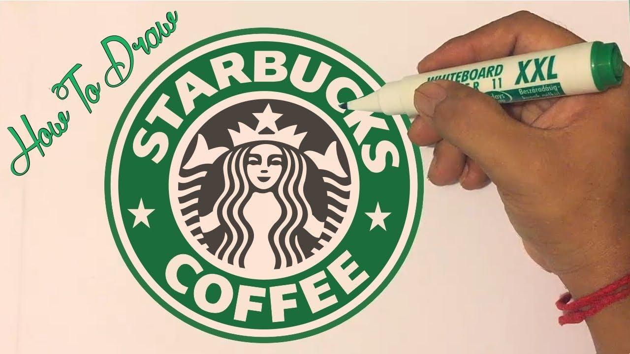 How to draw the Starbucks Logo.