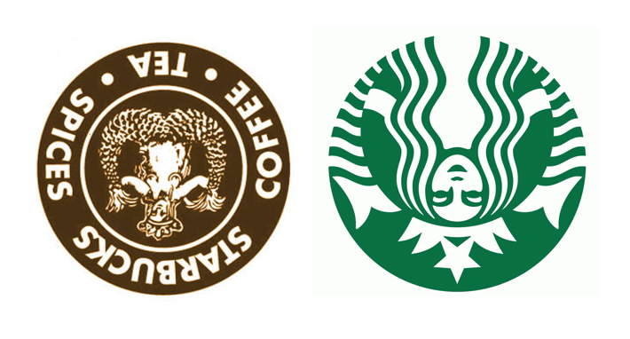 The Starbucks Logo Upside Down Looks Like Baphomet: Modern.