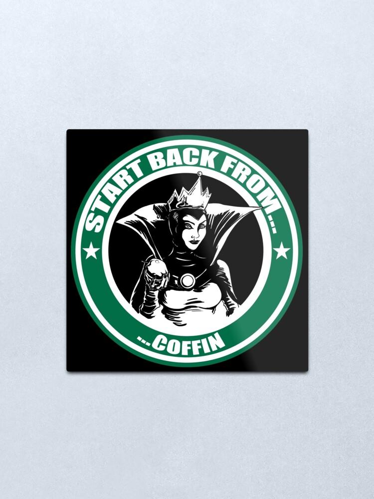 Snow White Evil Queen Starbucks Logo Parody.