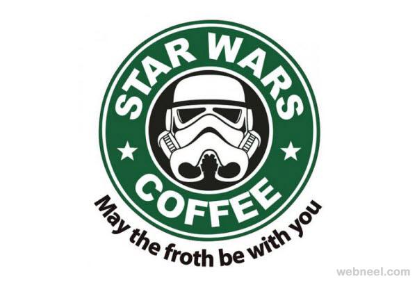 Starbucks Coffee Star Wars Coffee Logo Parody 8.