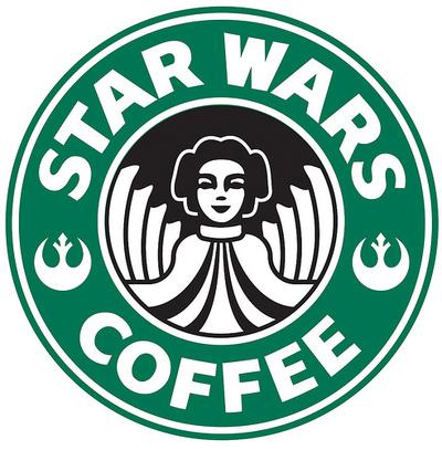 Geeky Starbucks Parody: Star Wars Coffee Logo.