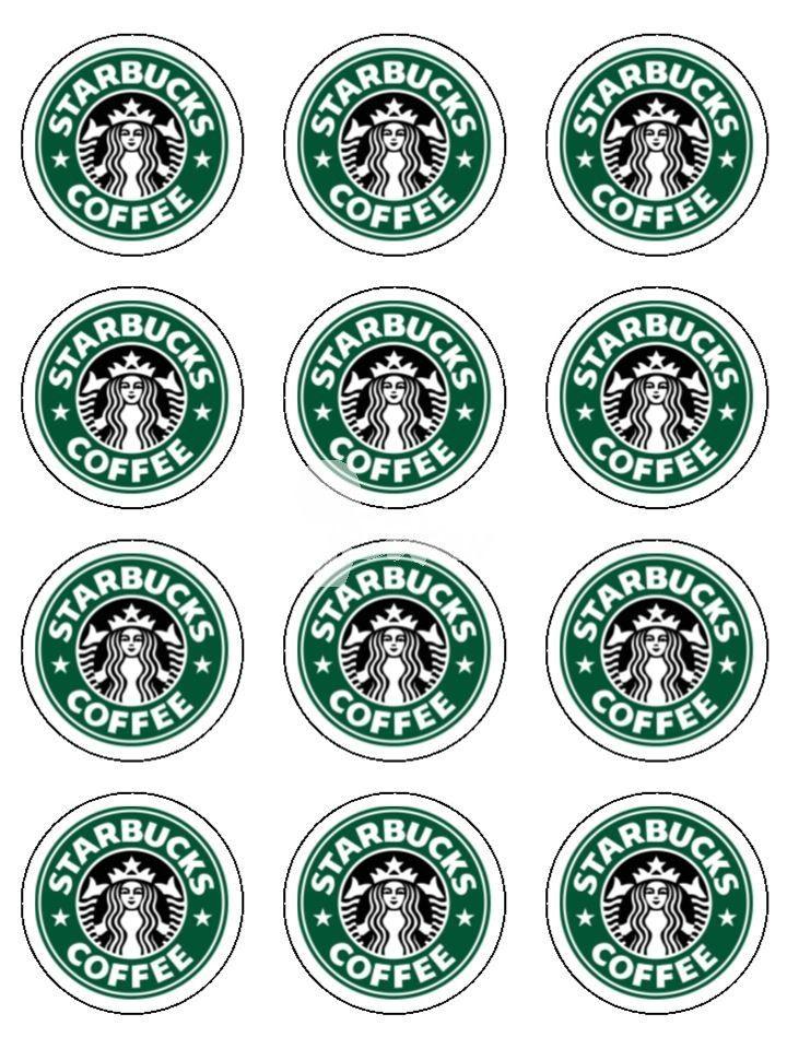 Printable Mini Starbucks Logos.