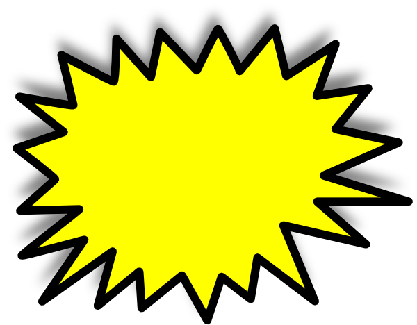 Starburst Clipart Black And White.