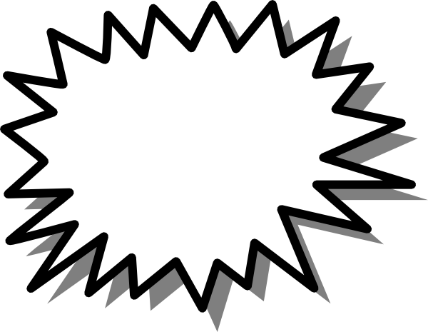 Starburst Clipart Black And White.