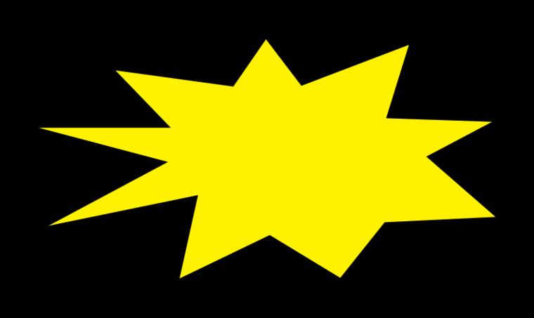 464 Starburst free clipart.
