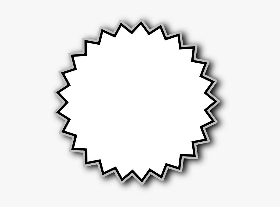 Black And White Starburst Clipart.