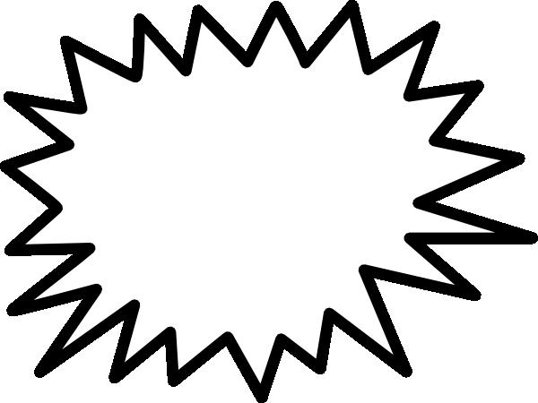 Starburst star callout no shadow clip art at vector clip art.