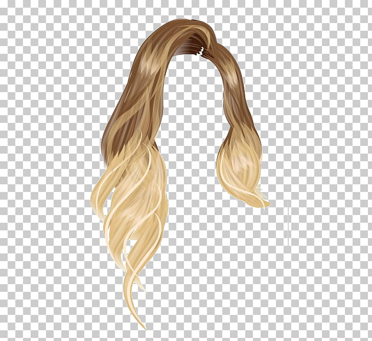 Long hair Blond Hair coloring Stardoll, hair PNG clipart.