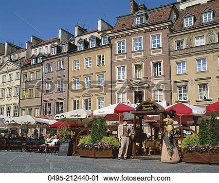 Stock Photography of Poland, Old Town Square (Stare Miasto.
