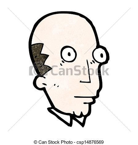 Clip Art Vector of cartoon staring man csp14876569.