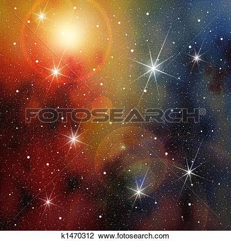 Clip Art of Star.