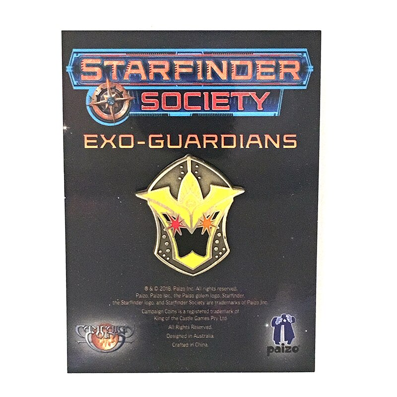 Details about STARFINDER SOCIETY FACTION PIN: EXO.