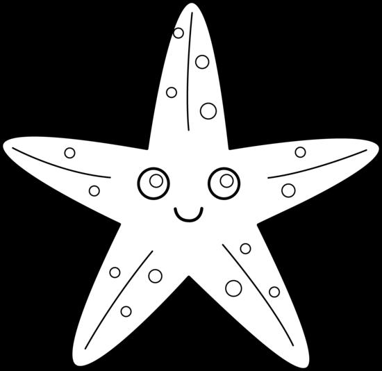 Starfish black and white clip art starfish black and white 3.