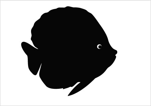 FISH SILHOUETTE Silhouette Graphics.