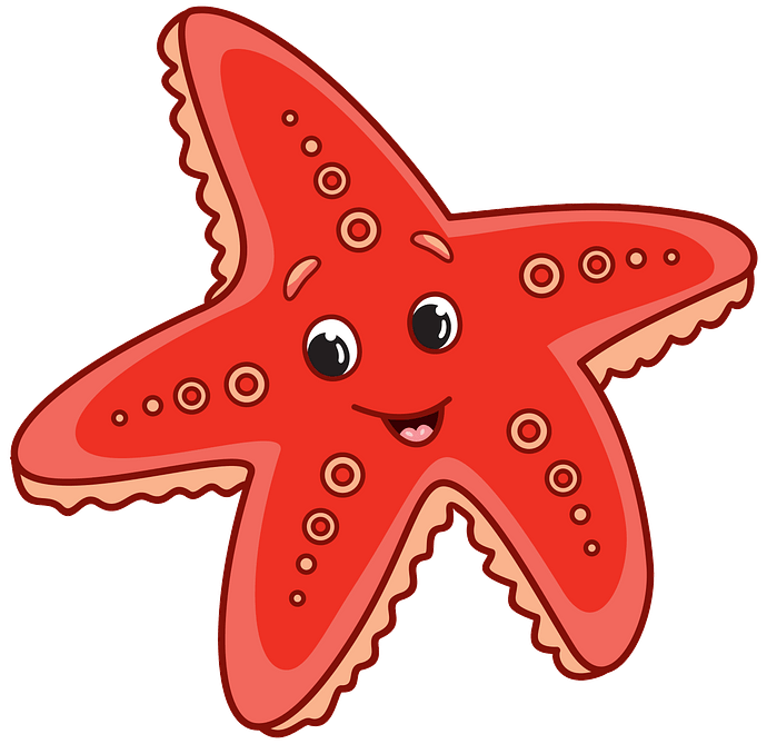 Starfish clipart. Free download..
