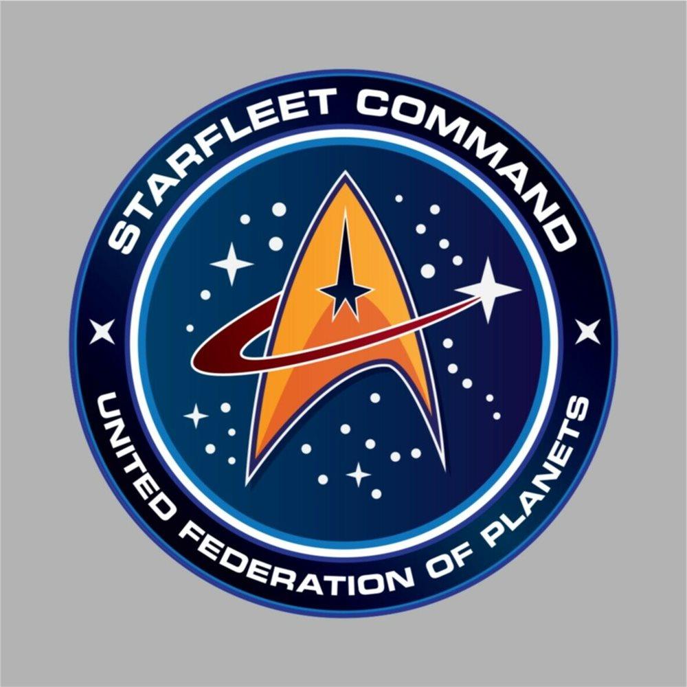STAR TREK STARFLEET COMMAND STICKER UNITED FEDERATION OF PLANETS.