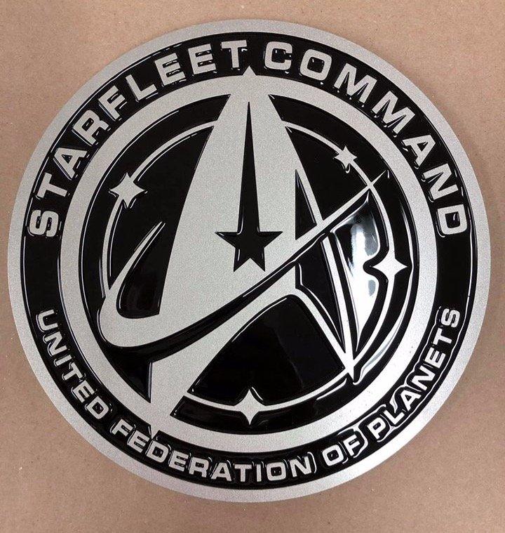 Starfleet Command logo, BLACK, 12\