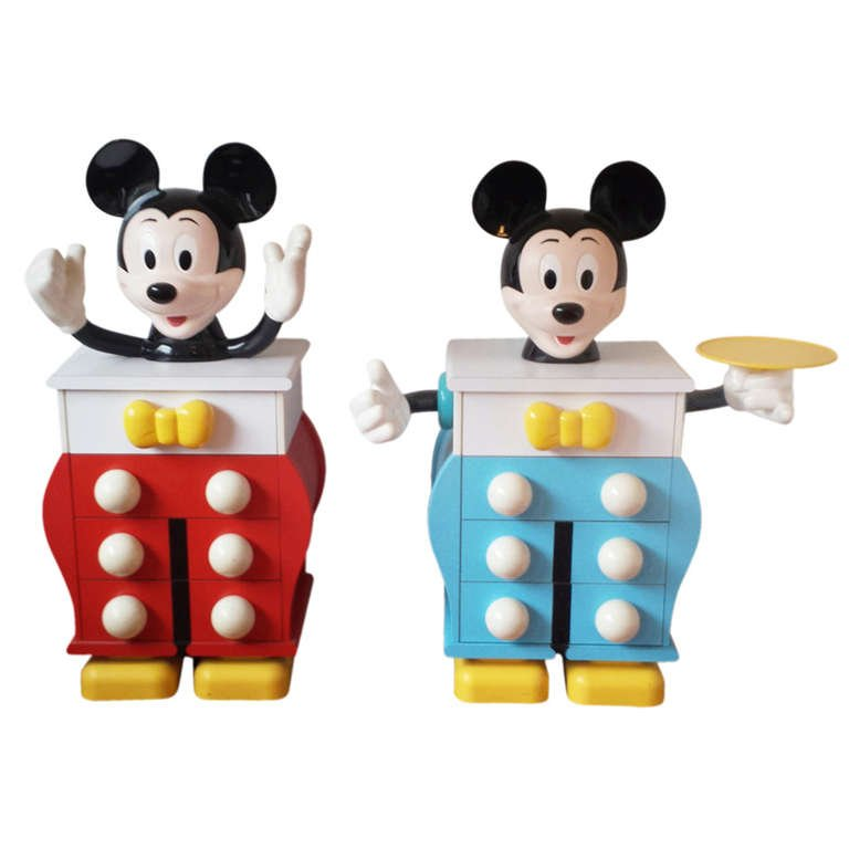 Pierre Colleu for Starform, Mickey Mouse Pair of Chests of Drawers.