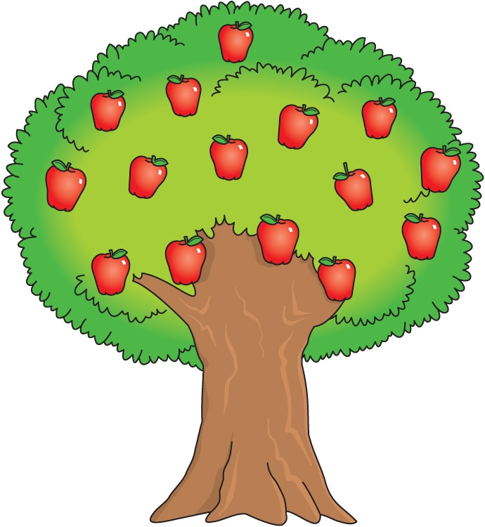 Fruit bearing tree clipart.