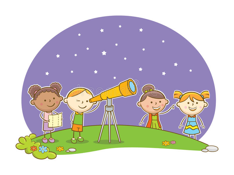 Telescope clipart night activity.