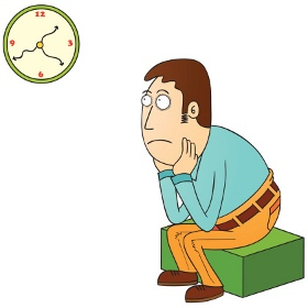 Looking At The Clock Clipart.