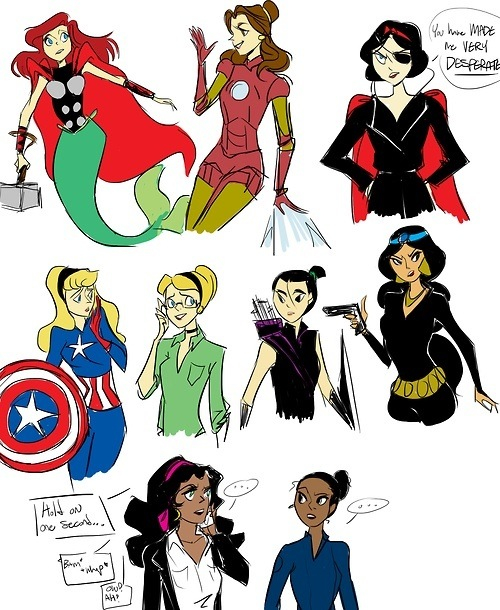 DISNEY PRINCESS AVENGERS ASSEMBLE! Ariel.