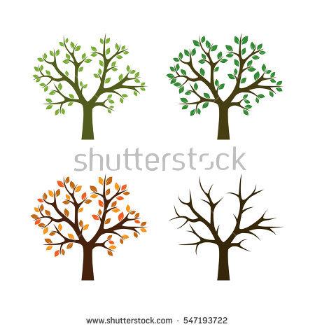 Wide Round Tree Icon Stark Black Stock Vector 71159455.