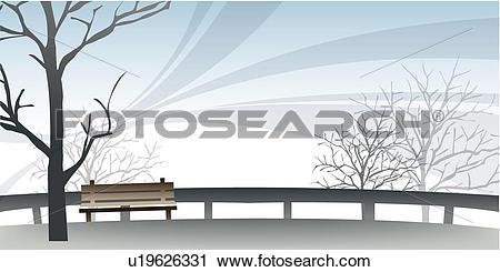 Clipart of Stark Winter Park u19626331.
