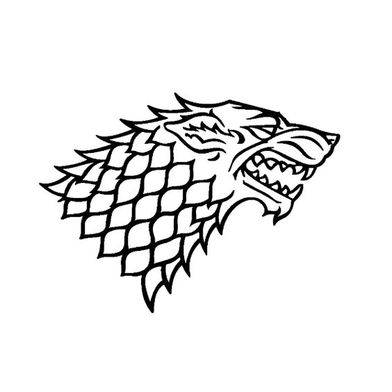 Stickers Loup House of Stark.