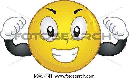 Clipart of Strong Smiley k9457141.