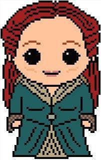 Game of Thrones: Sansa Stark's Skin PDF Chart Pattern.