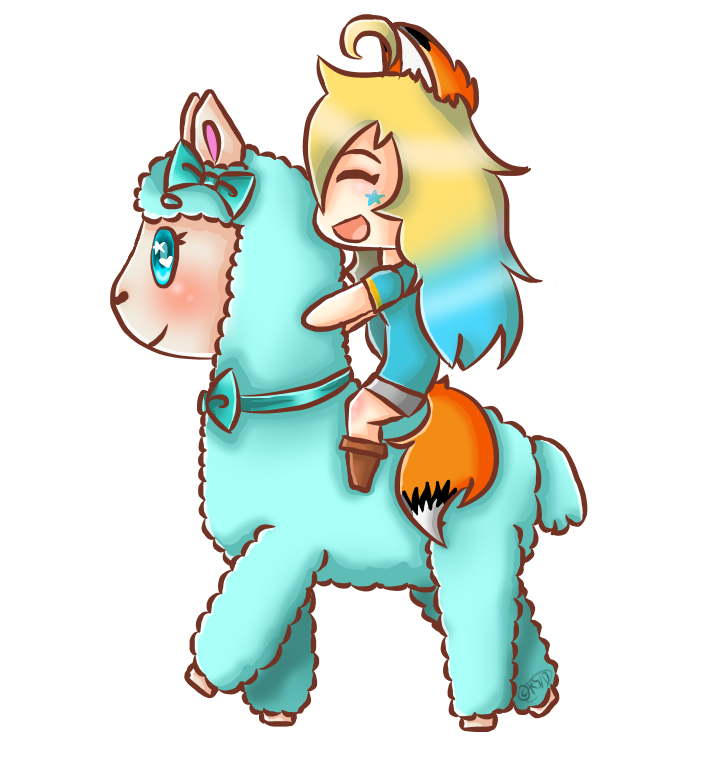 Happy Alpaca, Happy Starlett (Transparent OwO) by Kawaii.