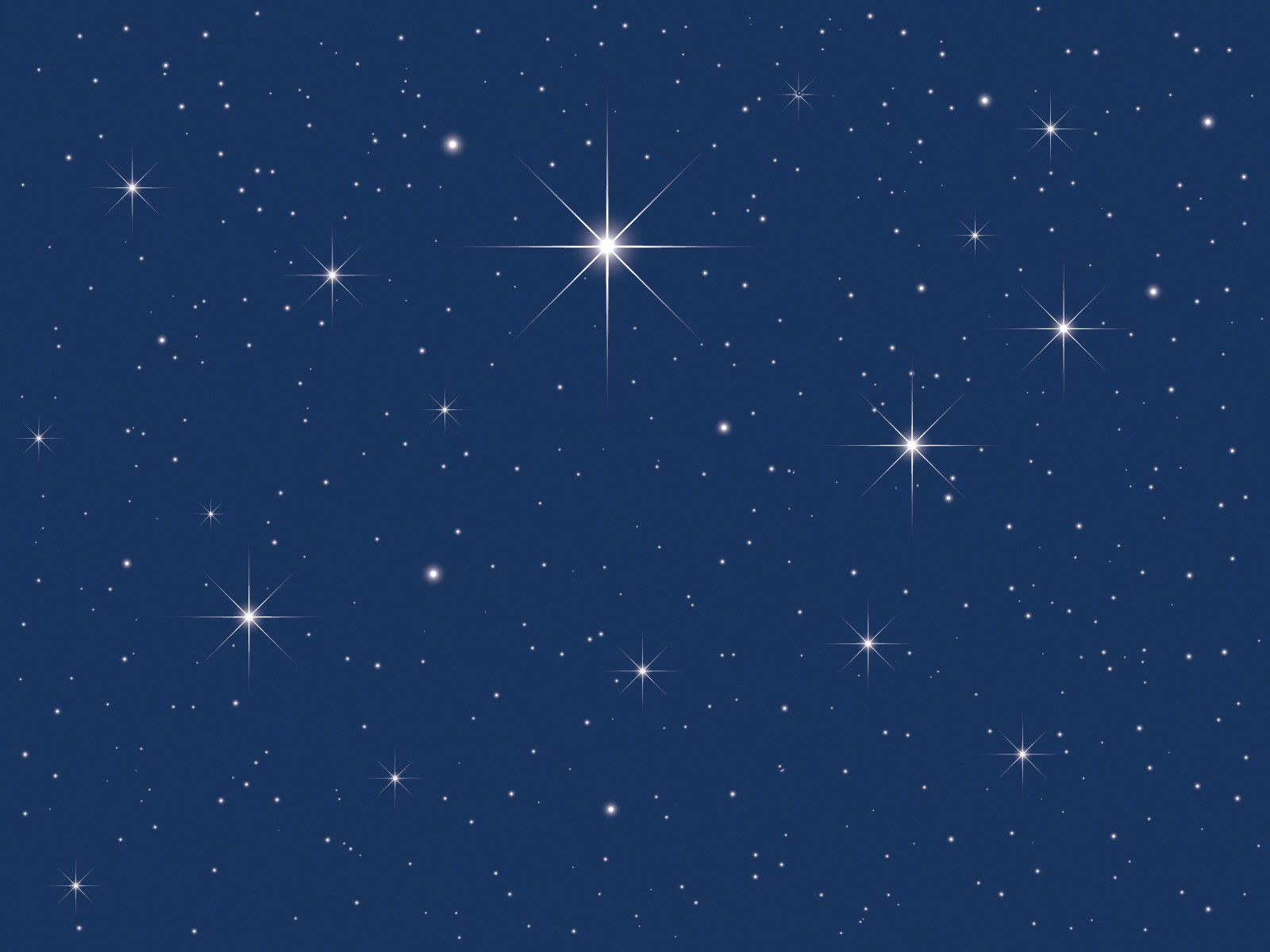 Starry Night Clipart Background.